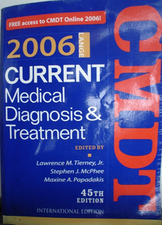 Current Medical Diagnosis And Treatment 2006