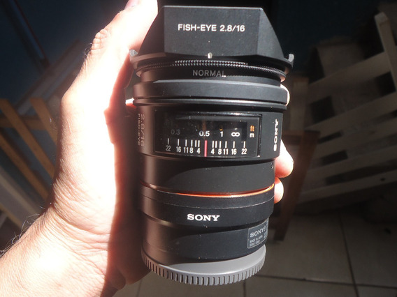 Lente Sony A-mount Fish-eye 2.8/16mm+adaptador Sony E-mount