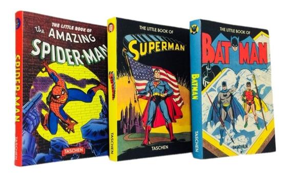 Kit Superman Batman Homem Aranha Livros Marvel Ultimato E Dc