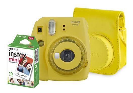 Kit Câmera Fujifilm Instax Mini 9 Amarelo Banana - 705065383