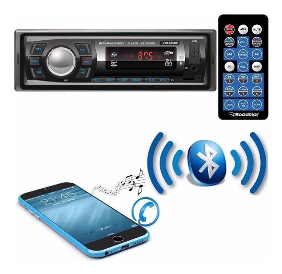 Aparelho Rádio Mp3 Player Automotivo Bluetooth Carro Sd Usb