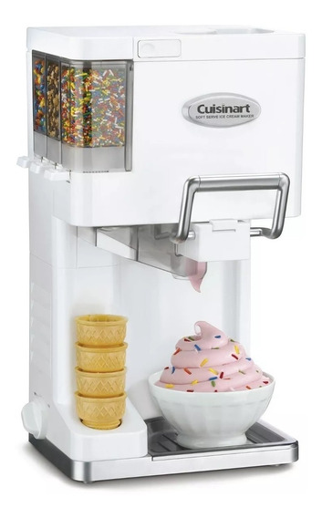 Maquina Cuisinart Helado Suave Yogurt Topping Cilindro Extra