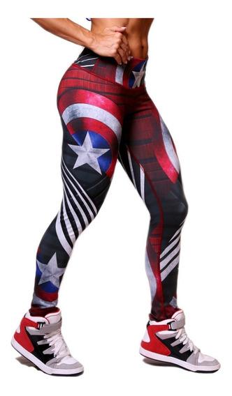 Leggings Mujer Capitan America Marvel Avengers Endgame
