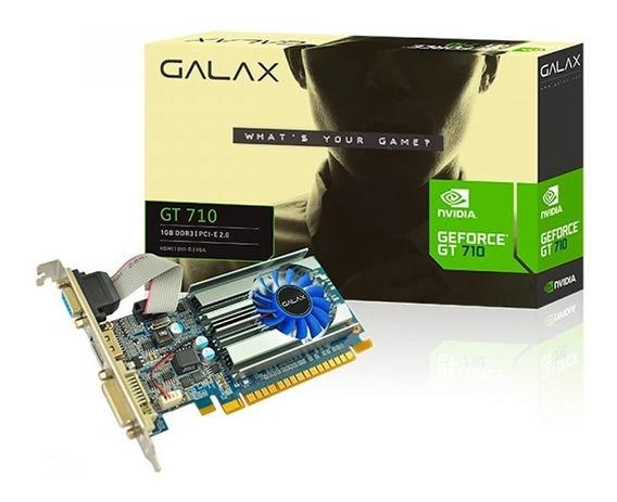 Placa De Vídeo Gt 710 Galax 1gb Ddr3 64bits