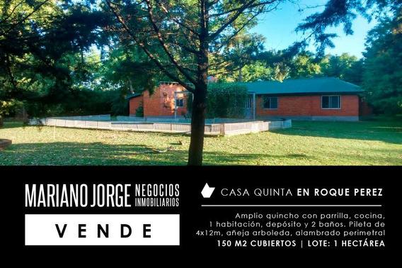 Casa Quinta En 1 Has Con Pileta - Roque Pérez