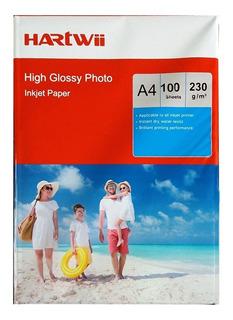 Papel Fotografico Hartwi 230 Gsm A4 100 Hojas Envio Gratis