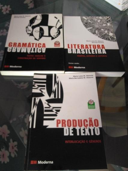 Literatura,produção De Texto E Gramática Moderna 3 Livros