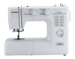 Máquina de costura Janome 2008S branca e azul 110V