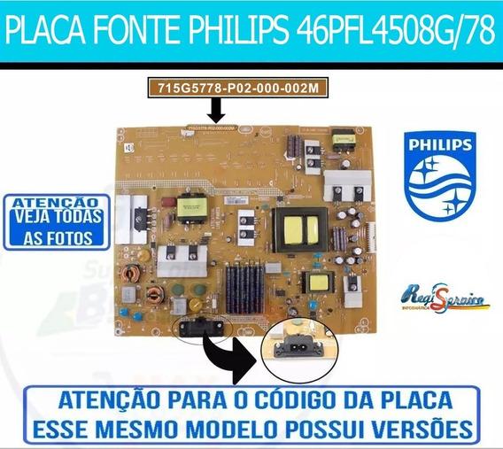 Fonte Tv Philips Mod:46pfl4508g/78-715g5778-p02-000-002m