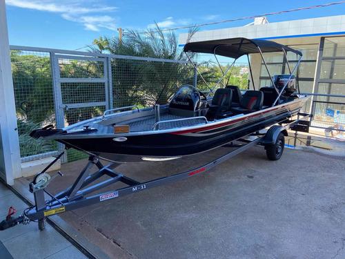 Lancha Boto 6000 Alt Pesca  Com Motor Mercury 50hp Com Trim