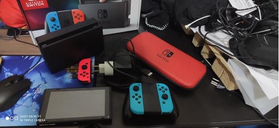Nintendo Switch Red Blue Desbloqueado - Leia A Descrição