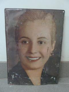 Cartel De Evita En Chapa Eva Peron No Enlozado