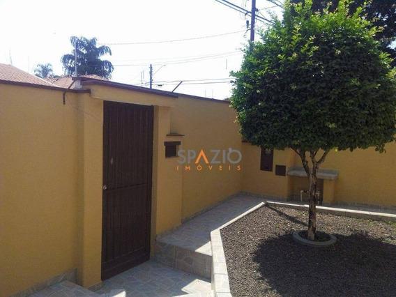 Casa Residencial À Venda, Vila Indaiá, Rio Claro. - Ca0051