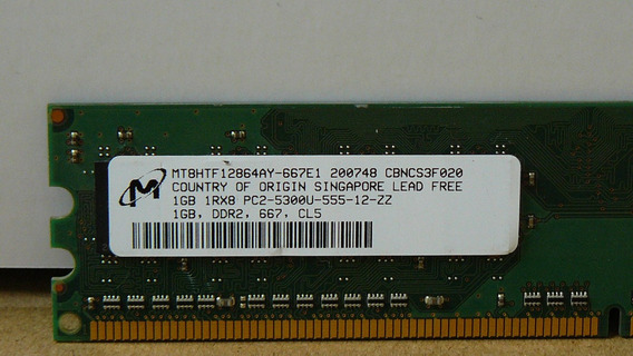 Memoria Ddr2 667mhz - Módulos X 1gb