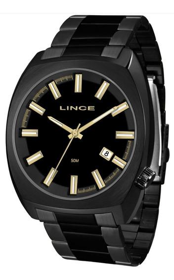 Relógio Masculino Lince Mrn4584s P1px Analógico Quartz Preto