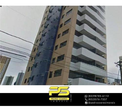 Apartamento Com 3 Dormitórios À Venda, 120 M² Por R$ 470.000,00 - Manaíra - João Pessoa/pb - Ap4566
