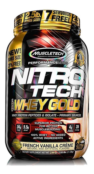 Nitro Tech Whey Gold 2,2 Lb Proteina Muscletech
