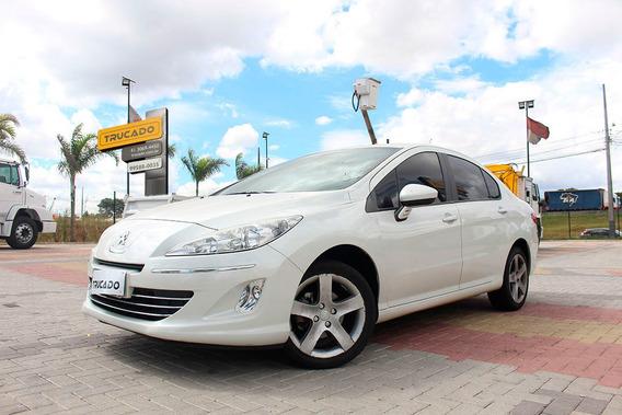 Peugeot Sedan 408 Branco Ano 2015 - Allure Top De Linha