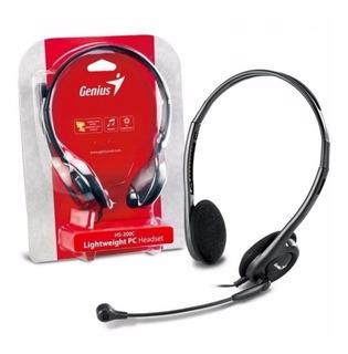 Auriculares Vincha Con Microfono Genius Hs-200c Skype Cuotas