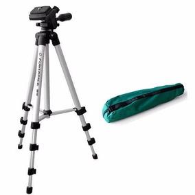 Tripe P/camera Fotografica Com 123cm Para Ate 1.0 Kg - Prata