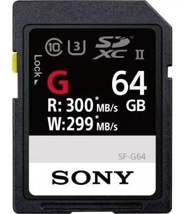 Cartão De Memória Sd Sony G Series /sd 64gb 300mb/s