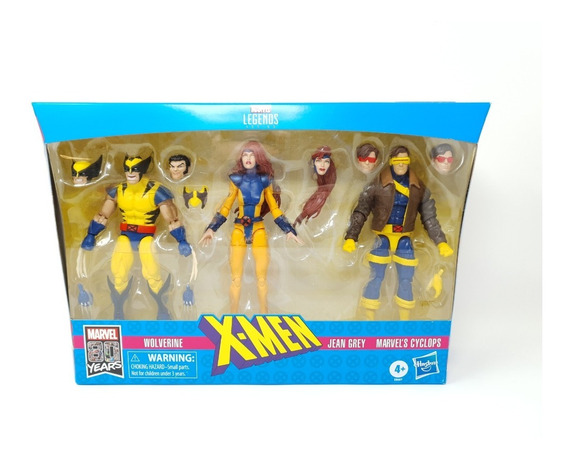 Marvel Legends Jean Grey Wolverine Y Cyclops 3 Pack X-men
