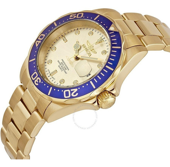 Relógio Invicta Mais Vendido 14124 Pro Diver Ouro 18k