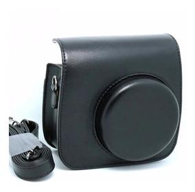 Bolsa Couro Sintético Com Alça Para Câmera Instax Mini Preta