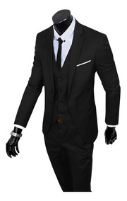 Terno Slim Masculino Oxford 2 Botoes Blazer