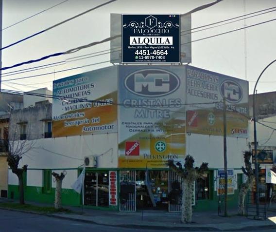 Local Comercial Alquiler Sobre Av. Balbin Zona Rubro Automotriz 162m2 San Miguel