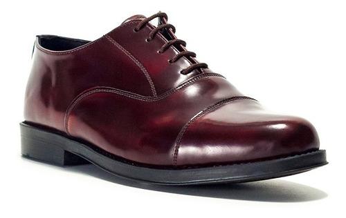 Zapato Clasico Abotinados Cordon Cuero Goma Envio Gratis
