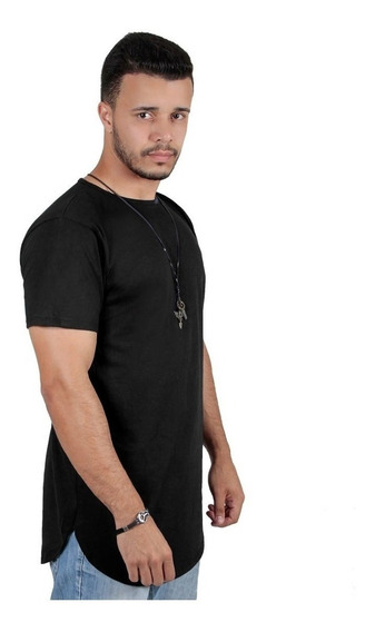 Kit C/3 Un Camisas Blusas Masculinas Long Line Oversize Swag