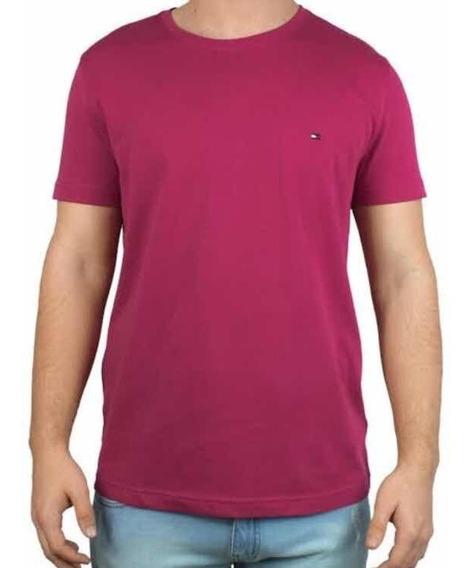 Camiseta Masculina Tommy Hilfiger Básica Rosa Th0887893554