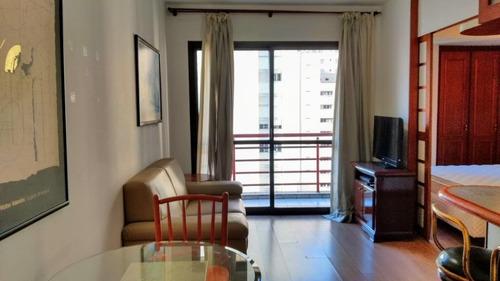 Ap0982 - Apartamento Com 1 Dormitório Para Alugar, 34 M² Por R$ 2.500/mês - Moema - São Paulo/sp - Ap0982