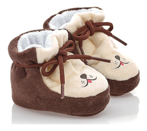 Pantufa Bebê Menino Plush Baby Gut Forro E Elástico Interno