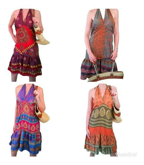 Vestido Indiano Em Seda Indiana Importados Maravilhosos