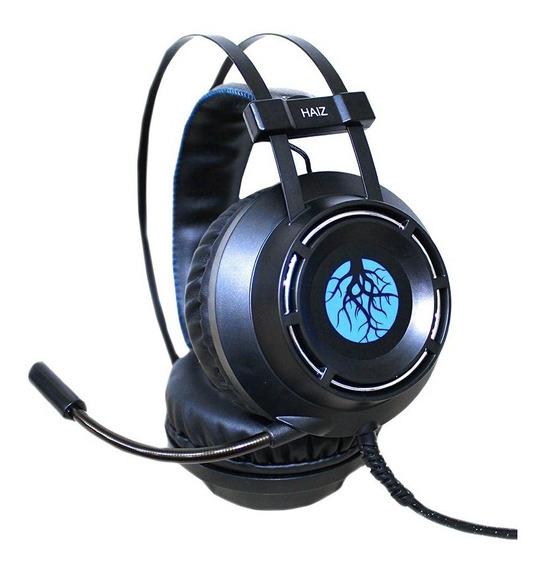 Headset Gamer Led Haiz 9800 Cabo 3m Microfone Ultrabass