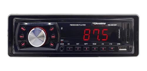 Som automotivo Roadstar RS-2601 com USB e leitor de cartão SD