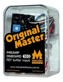 Preamp Mendes Original Master 3eq - Pot Balanço/chave Bypass