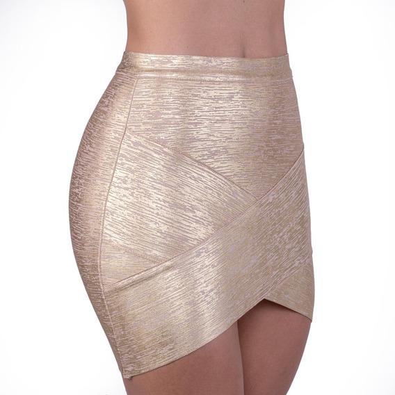 Saia Bandagem Metalizada Dourada