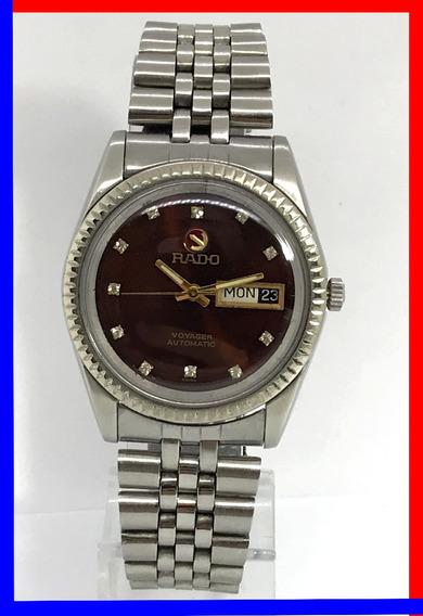 Relógio Rado Voyager Jubileu Aço-aço Auto. Bordeaux Cristais