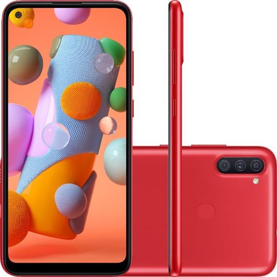 Smartphone Samsung Galaxy A11 Vermelho 64gb 3gb Ram Tela 6.4