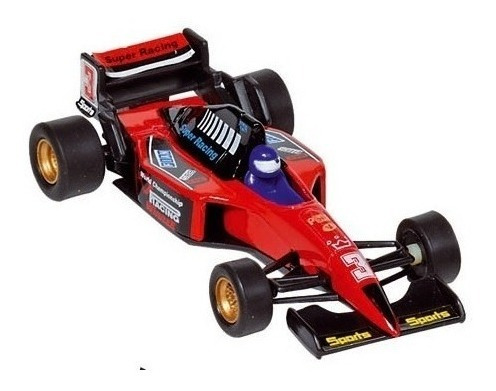 Autos Formula 1 Racer Pull Back Go Action Welly Escala 1:36