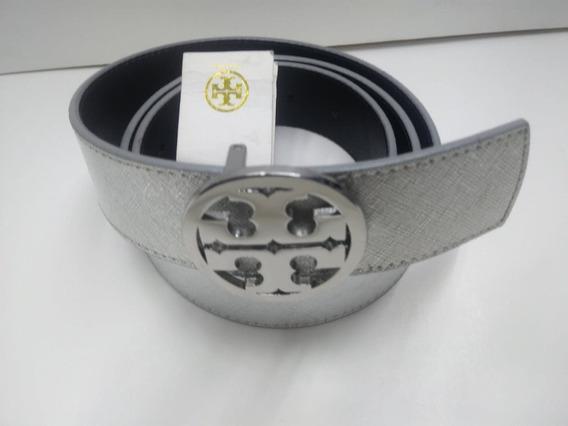 Cinturón Tory Burch 100% Original Plateado Para Dama