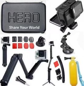 Estanque Preta Kit P Gopro Hero 5 Hero 6 Tripé 3 Way Hero 7