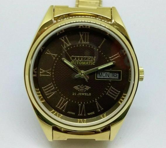 Reloj De Pulsera Chapa De Oro Hermozo Automatico Vintage