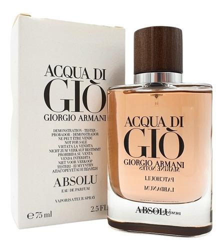 Imagen 1 de 1 de Acqua Di Giò Absolu Edp 75ml Armani (tester)