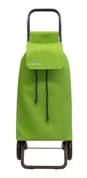 Carrito De Compra Rolser Saquet Color Verde Lima