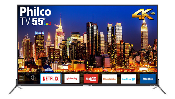 Smart Tv Philco Led 4k 55 Ptv55q50sns - Netflix Bivolt