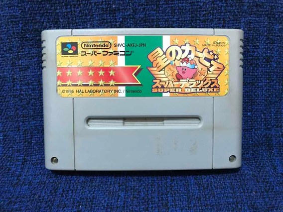 Hoshi No Kirby Super Deluxe Shvc-akfj-jpn Famicom Snes Origi